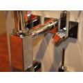 Угловой дизайнерский вентиль со скрытой подводкой SCHELL QUAD D10, хром /053620699/