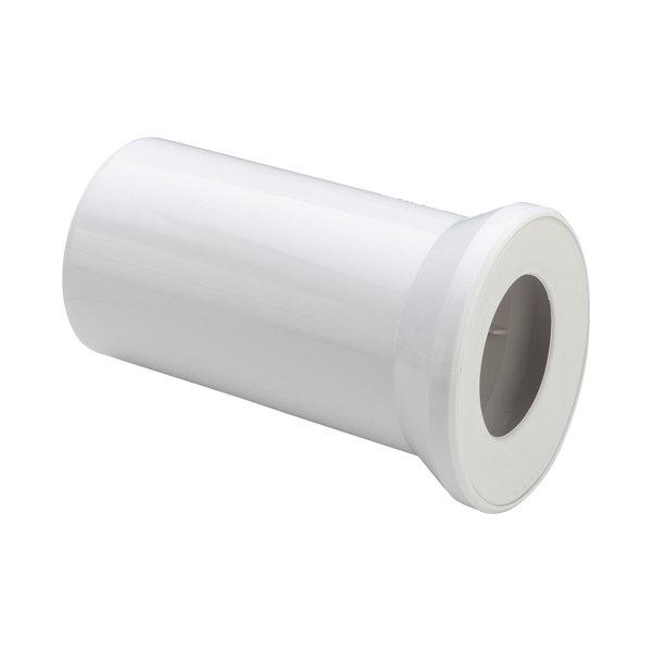 Отвод для унитаза VIEGA , белый, прямой, с манжетным уплотнителем,пластик,dn 100х250 /101312/
