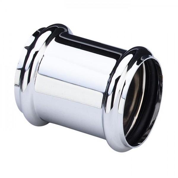 Муфта VIEGA для соединения труб, с двумя уплотнительными кольцами, круглого сечения ,хром ,для бутылочных сифонов /102371/