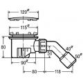 Сифон VIEGA Tempoplex для душевого поддона 90мм, хром  120х40/50  /364786/