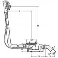 Сифон VIEGA Rotaplex для нестандартных ванн, 40/50х1070,сливное отверстие 90 мм , пластик /574956/
