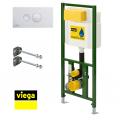 Инсталяция для унитаза , стальная рама, порошковое покрытие, в комплекте с кроншт. и кнопкой 596323 /660321/