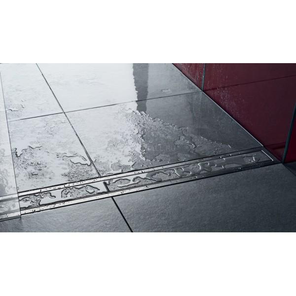 Декоративная накладка VIEGA под плитку ER4-1000 мм, поверхность, нержавеющая сталь /589592/