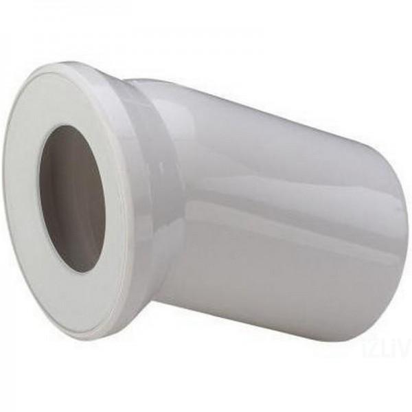 Отвод для унитаза VIEGA , белый, под углом 22,5 градуса, с манжетным уплотнителем, dn 110х150, пластик /101855/