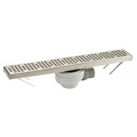 Дренажный канал для душа 500х80 мм, Лоток+ решетка нержавеющая сталь FLOORLINE, слив Турбо (0,66л/сек), комплект CS50S /0205524/