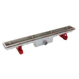 Дренажный канал для душа 800х95 мм, пластик  без решетки , слив D40 гайка, ножки регулируемые, комплект /SICANC8O/