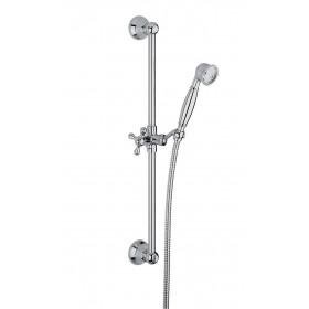 Душевой гарнитур Lamp (стойка, шланг 1500 мм, ручной душ, держатель) бронза /F2044BR/