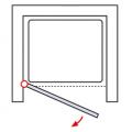 Дверь в нишу HSK Garant 100х185 см в цвете сталь/стекло карре арт. D801088156