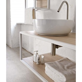 Комплект мебели Scarabeo Frame 60 с накладной раковиной Sfera