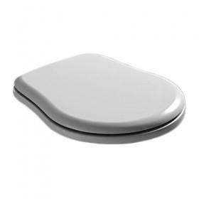 Крышка для унитаза RETRO с микролифтом,белая, пластик, крепеж- хром  /108801/
