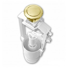 Механизм смыва к унитазу напольному RETRO,пластик, нижний подвод кнопка золото /750991/