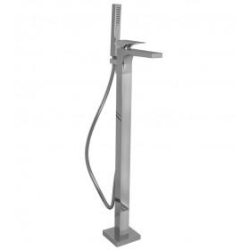 Напольный черный смеситель для ванны Carlo Frattini Zeta F3964/4NS