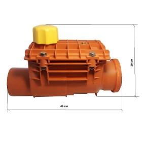Обратный канализационный  клапан VIEGA , для проходных систем,с автоматической рабочей заслонкой и с ручным затвором, с ревизией   /136192/