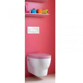 Крышка д/унитаза soft close /9255.1.345/ белое-розовое