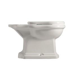 Унитаз напольный  RETRO выпуск в стену P,без бачка, белый, керамика  /101301/