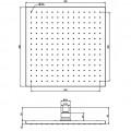 Верхний душ 300х300, квадрат , латунь, хром  / F 2216/2 CR/