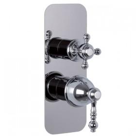 Внешняя часть хромированного смесителя для душа Carlo Frattini Elizabeth F5089 Х6CR на три потребителя.