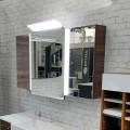 SOLITAIRE 7030 Зеркальный шкаф 700/750 х1321х190,3 вращающиеся двери сангалло коричневый 7030-SPS 08