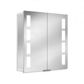 Зеркальный шкаф со светильником 1122075 HSK 75х75 см