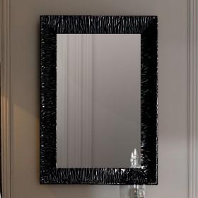 """Зеркало RETRO 70х100 в деревянной раме. Покрытие """"черный глянец"""" /736501/"""